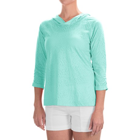 Columbia Sportswear See Through You Burnout Hoodie - 3/4 Sleeve (For Women)
