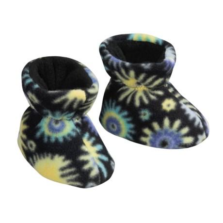 Acorn Easy Fleece Booties (For Kids)