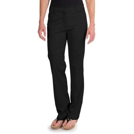 Straight Leg Pants - Stretch Cotton (For Women)