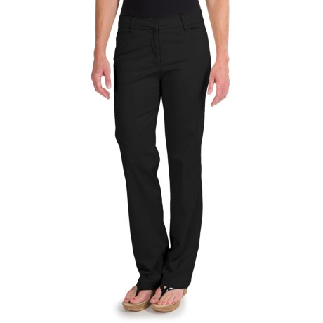 Specially made Straight Leg Pants - Stretch Cotton (For Women)