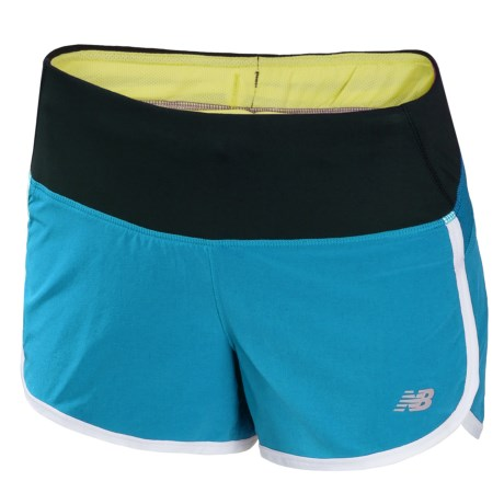 """New Balance Impact Running Shorts - Built-In Brief, 3"""" (For Women)"""