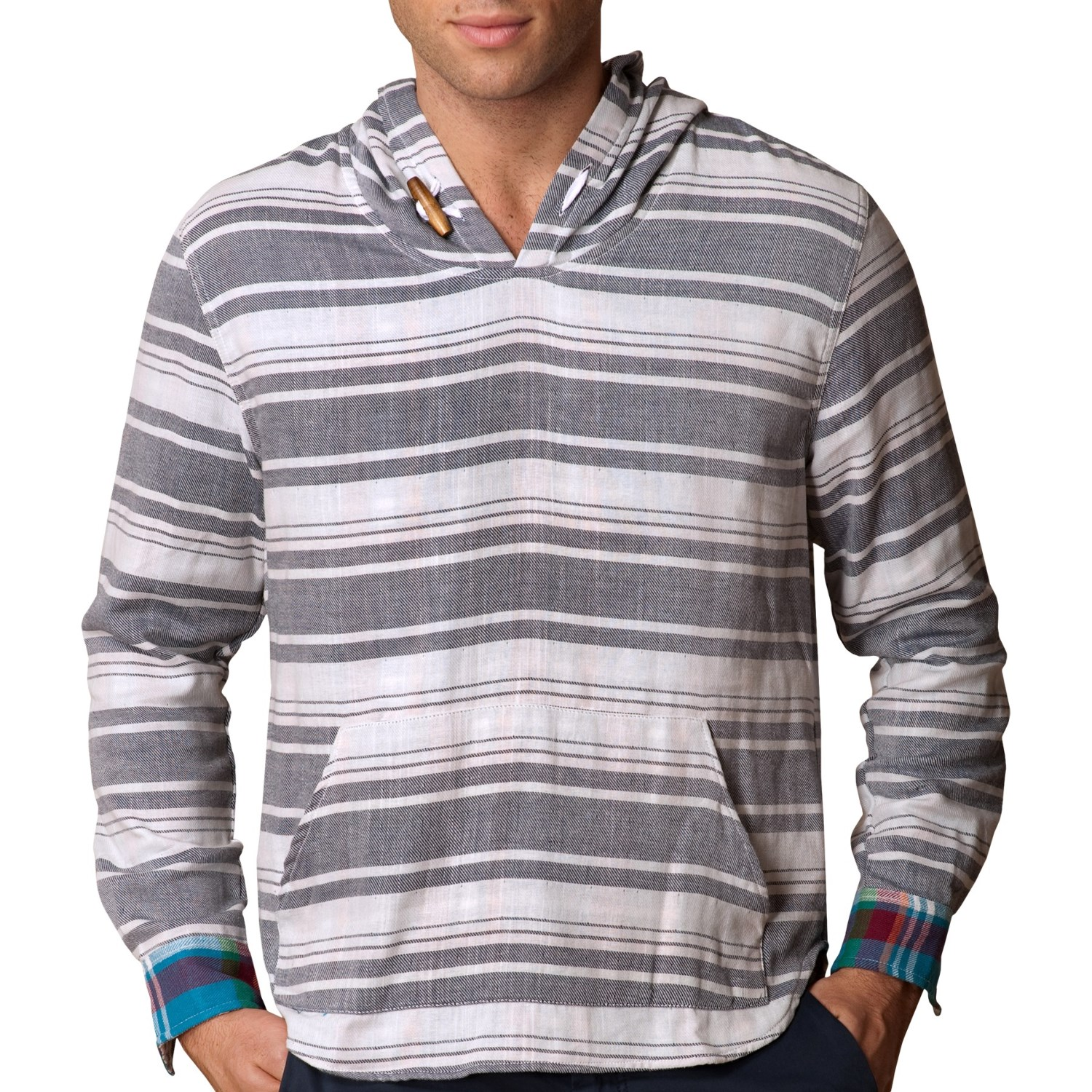 The baja hoodies for men that are sold by Mexican Threads are all unisex so they can be worn by women as well. The sizing is very true to mens sizes so if you are a man you should buy your normal size. If you are a woman, you need to buy down a size.
