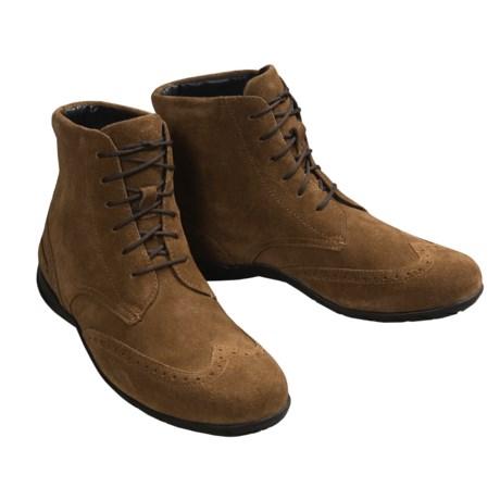 Mens Suede Wingtip Boots Pirelli Suede Wingtip Boots