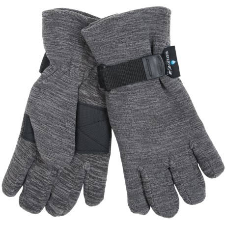 Grand Sierra Melange Fleece Gloves - Waterproof, Insulated (For Men)