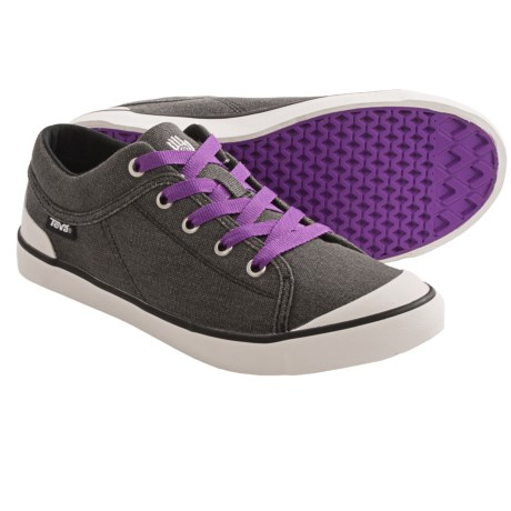 Teva Freewheel Washed Canvas Sneakers (For Women)
