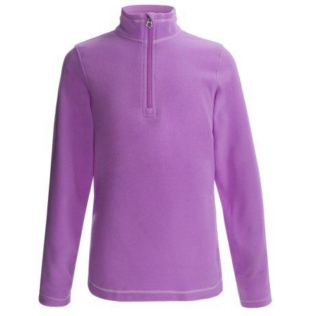 ThermaCheck 100 Fleece Pullover Jacket - Zip Neck, Long Sleeve (For Girls)