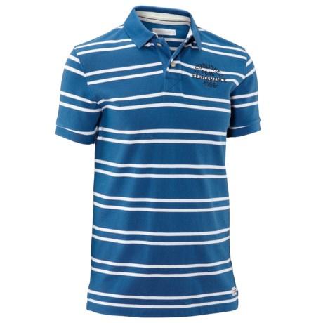 Peak Performance Irvin Striped Pique Polo Shirt - Short Sleeve (For Men)