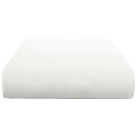 Coyuchi Percale Fitted Sheet - Twin, 300 TC, Organic Cotton