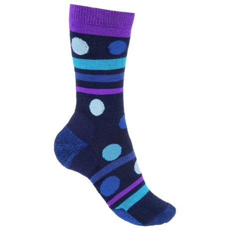 Point6 Polka-Stripe Socks - Merino Wool, 3/4 Crew (For Women)