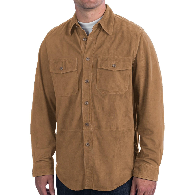bullock jones goat suede shirt jacket for men 7917x