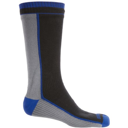 SealSkinz Midweight Waterproof Socks - Merino Wool Lined, Mid Calf (For Men and Women) in Black/Grey - Closeouts