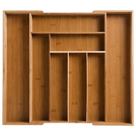 Core Bamboo Expandable Flatware Tray - Bamboo, Large