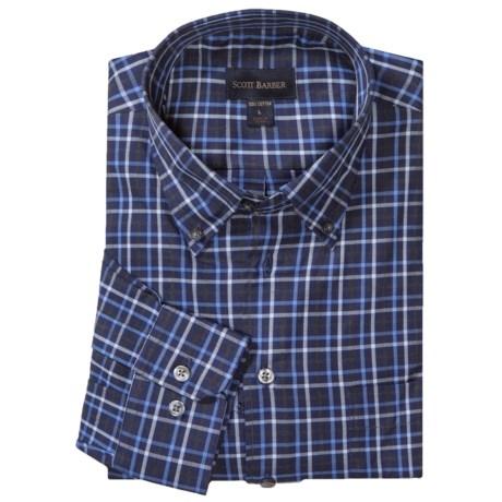 Scott Barber James Fancy Herringbone Check Sport Shirt - Long Sleeve (For Men)