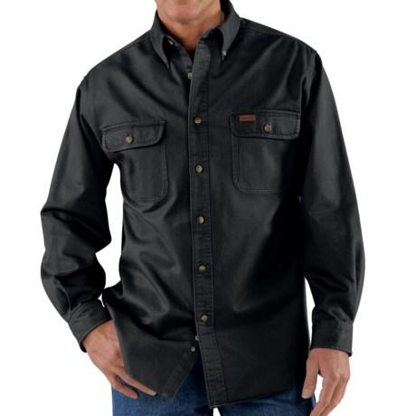 Carhartt Heavyweight Twill Shirt - Long Sleeve, Factory Seconds (For Big Men)