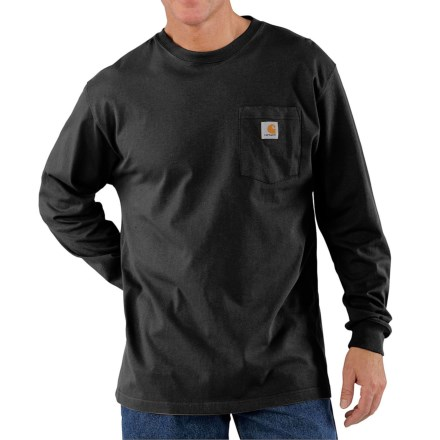 Carhartt Workwear T-Shirt - Long Sleeve (For Big Men) in Black - 2nds