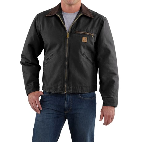 Carhartt Sandstone Detroit Jacket - Blanket Lined, Factory Seconds (For Big Men)
