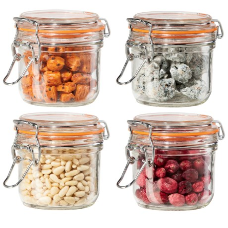 OGGI Glass Mini Canister Set - 4-Piece, 7 fl.oz.