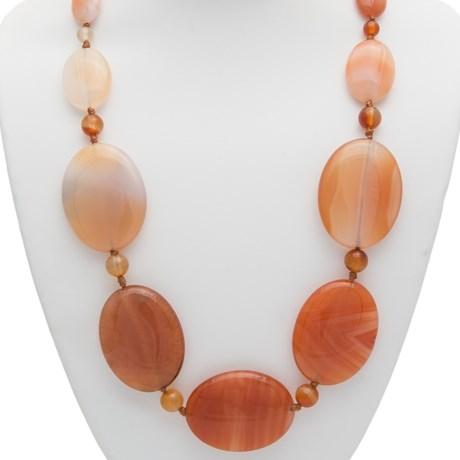 Aluma USA Graduated Stone Necklace