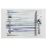 "Now Designs Watercolor Brushstroke Placemat - Woven Vinyl, 12x18"""
