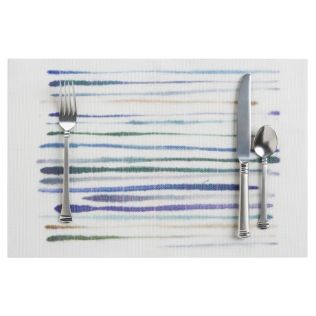 Now Designs Watercolor Brushstroke Placemat - Woven Vinyl, 12x18""