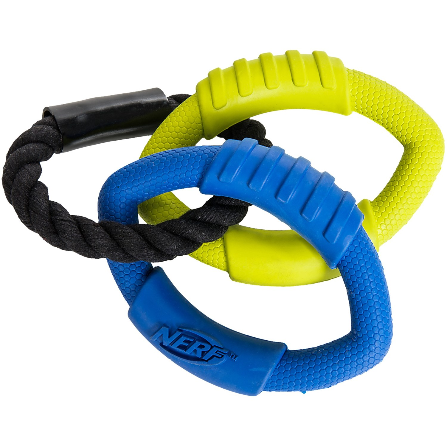 Nerf Rubber  Ring Rope Tug Toy Small