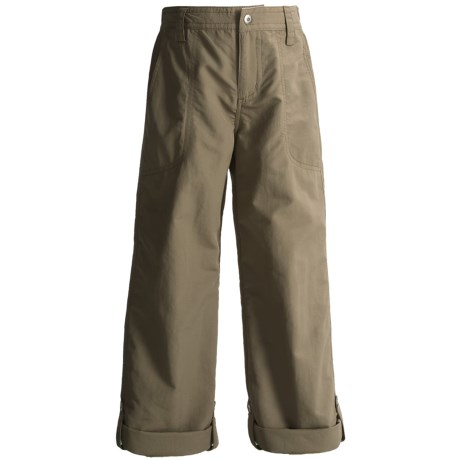 White Sierra Trail Roll-Up Pants - UPF 30 (For Little and Big Girls)