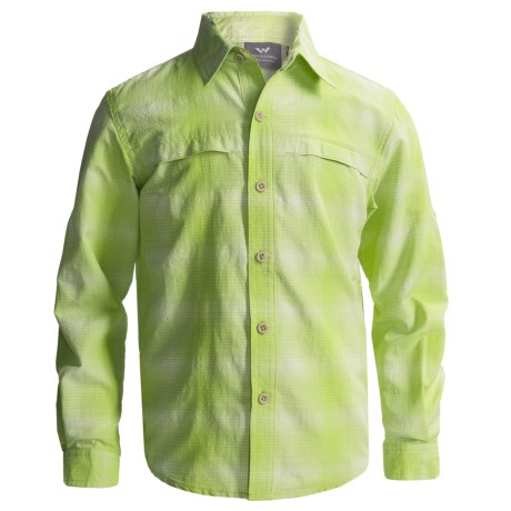 White Sierra Ningaloo Shirt - UPF 30, Long Sleeve (For Little and Big Boys)