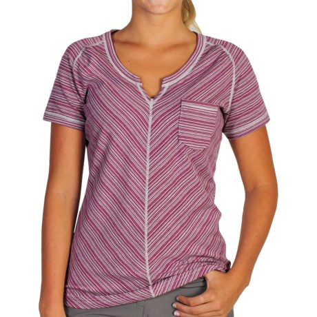 ExOfficio Go-To Pocket Stripe T-Shirt - Short Sleeve (For Women)