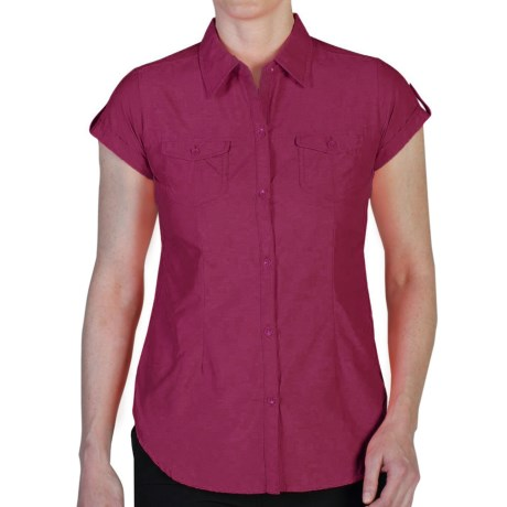 ExOfficio Dryflylite Shirt - UPF 30+, Short Sleeve (For Women)
