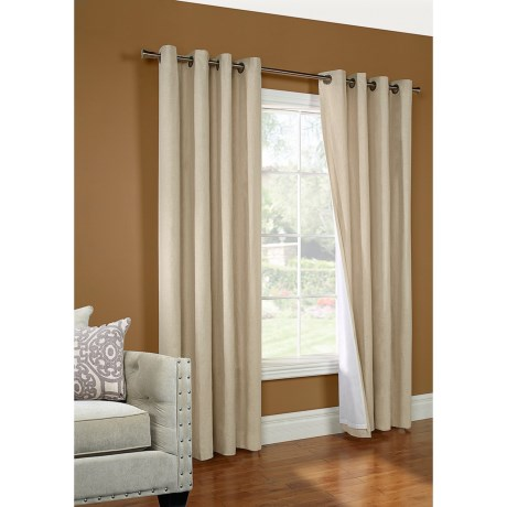"""Thermalogic Peyton Insulated Curtains - 108x84"""", Linen-Cotton, Grommet Top"""