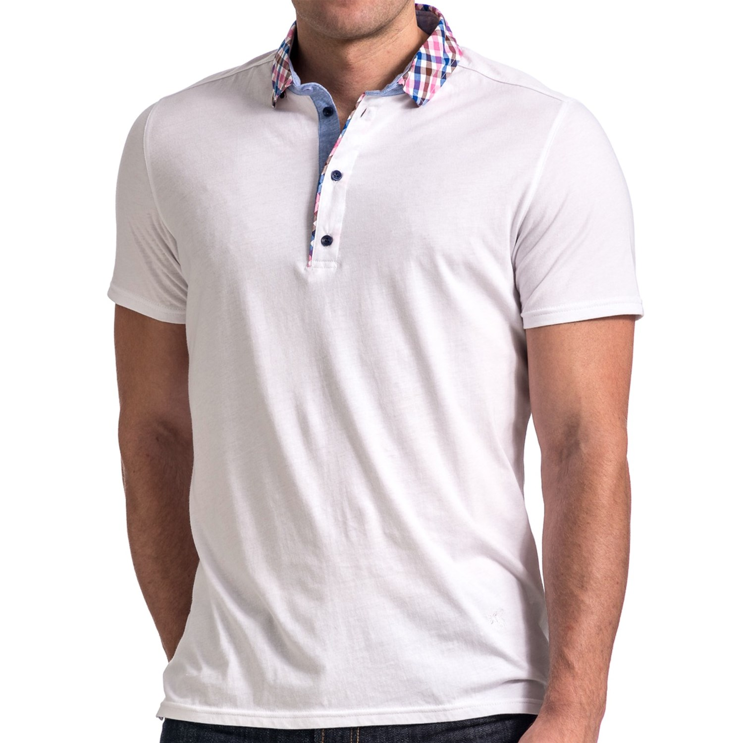 Stone rose jersey knit polo shirt for men 8064v save 72 for Knitted polo shirt mens