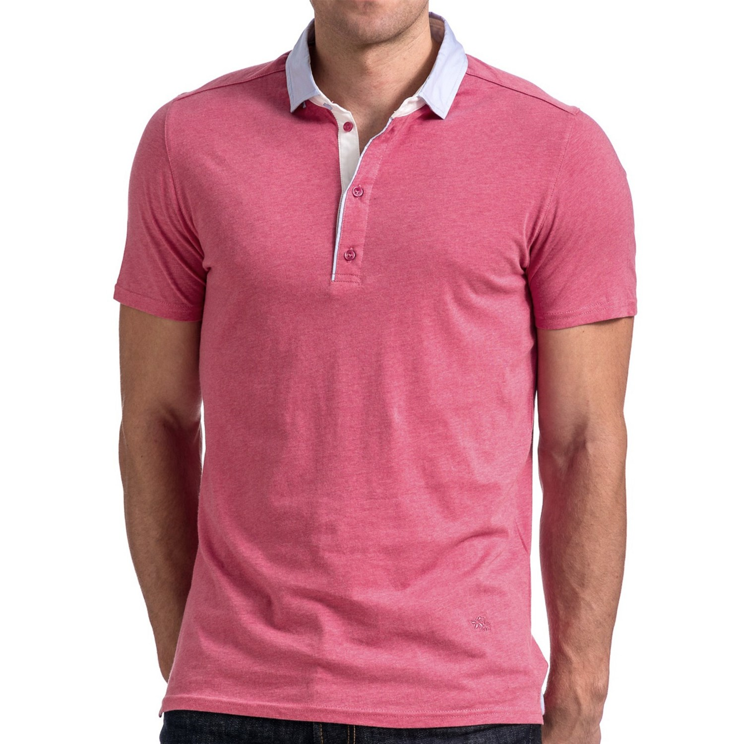 Stone Rose Jersey Knit Polo Shirt For Men 8064v Save 72