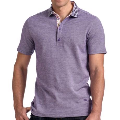 Stone Rose Oxford Knit Polo Shirt - Short Sleeve (For Men)