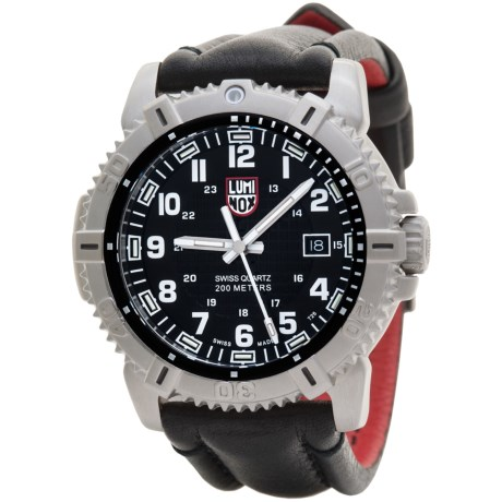 Luminox Modern Mariner Blackout Watch - Leather Strap (For Men)