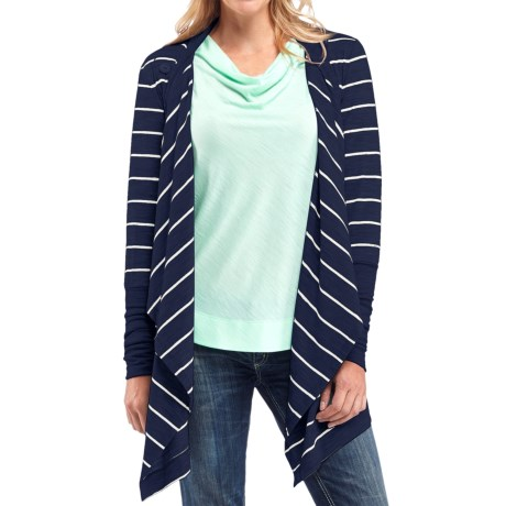 Icebreaker Bliss Stripe Wrap Cardigan - UPF 20+, Merino Wool  (For Women)