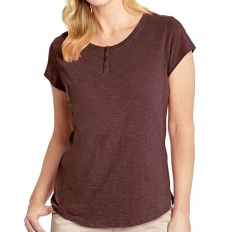 Woolrich Elemental Henley T-Shirt - Cotton, Short Sleeve (For Women)
