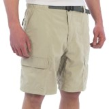 White Sierra Safari II Shorts (For Men)