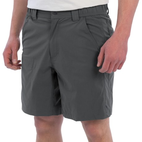 White Sierra Traveler Relaxed Waist Shorts (For Men)