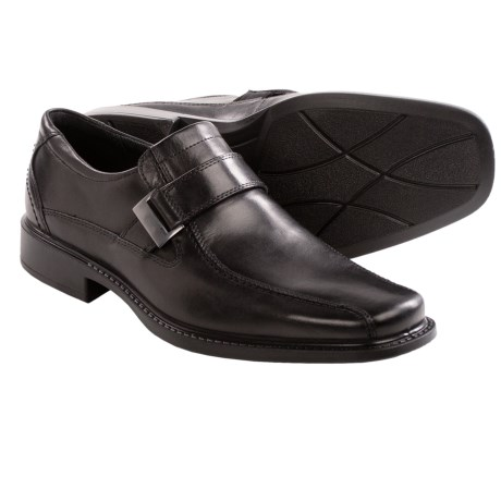 ECCO New Jersey Side Buckle Shoes - Leather, Slip-Ons (For Men)