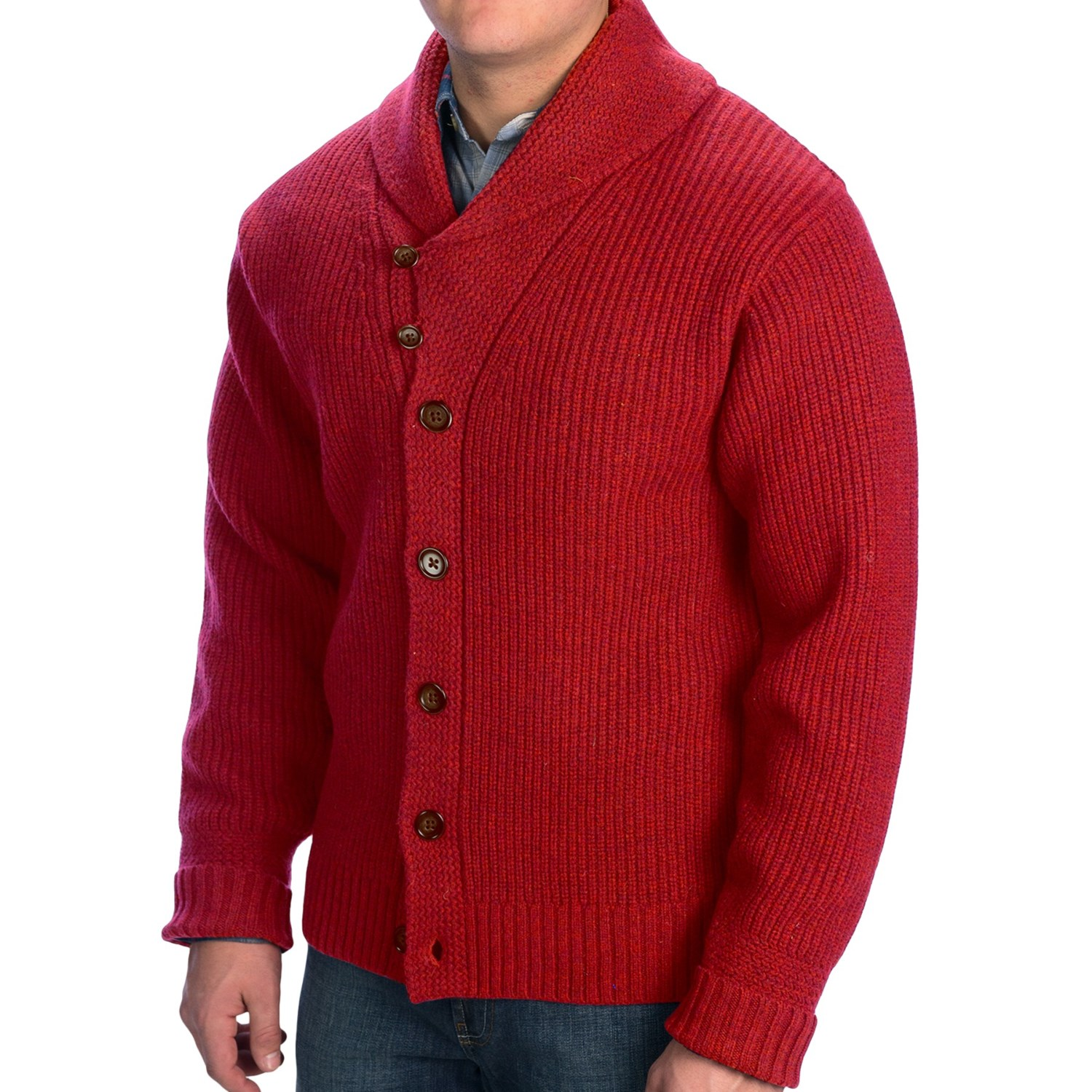 Find the perfect Irish gift for him to keep him warm and snug all winter long with one of our men's Aran shawl collar cardigans or a wool turtleneck sweater. Or give him the classic Irish look with a stylish fisherman sweater.