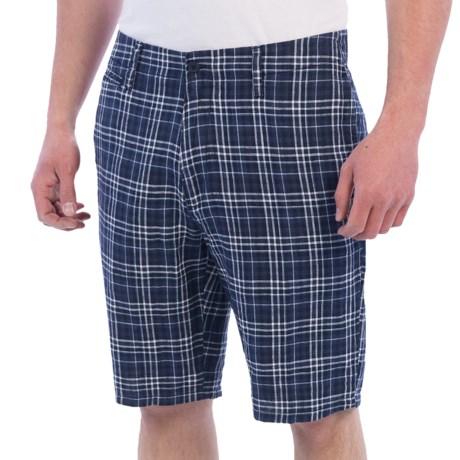 Toscano Linen Plaid Shorts (For Men)
