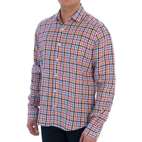 Toscano Fancy Linen Shirt - Long Sleeve (For Men)