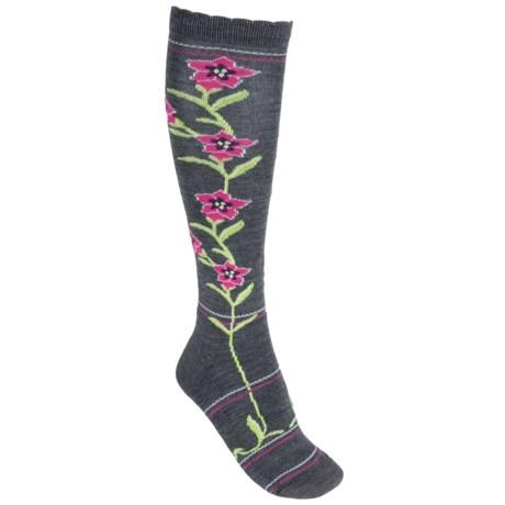 Point6 Enzian Medium Cushion Ski Socks - Merino Wool, Over the Calf (For Men and Women)