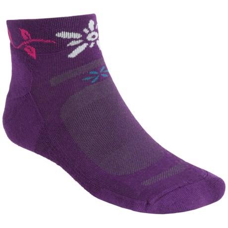Point6 Running Bellis Socks - Merino Wool, Quarter Crew (For Women)