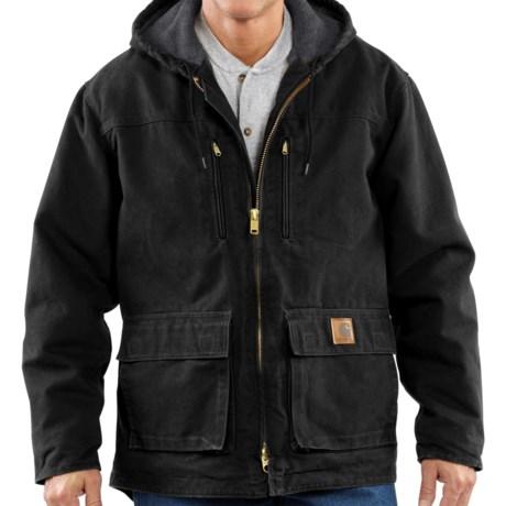 Carhartt Sandstone Jackson Coat - Sherpa Lined, Factory Seconds (For Big Men)