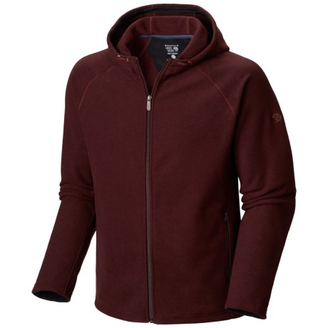 Mountain Hardwear Toasty Twill Fleece Hoodie - UPF 50, Full Zip (For Men)