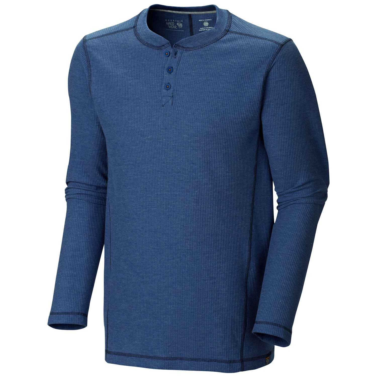 Mountain hardwear trekkin thermal henley shirt for men 8180v for Men s thermal henley long sleeve shirts