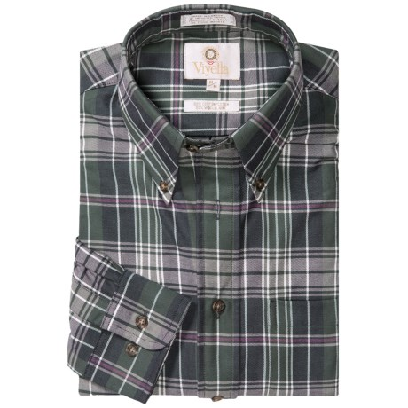 Viyella Plaid Sport Shirt - Cotton-Wool, Long Sleeve (For Men)