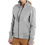 Carhartt Dunlow Sweatshirt - Full Zip (For Women)