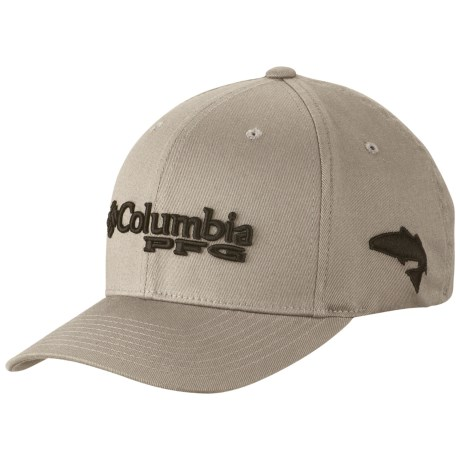 Columbia fitted pfg bonehead outdoor fishing hat cap color for Fitted fishing hats